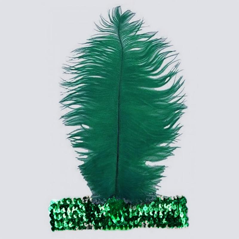 Bandeau charleston à paillettes vert brésil