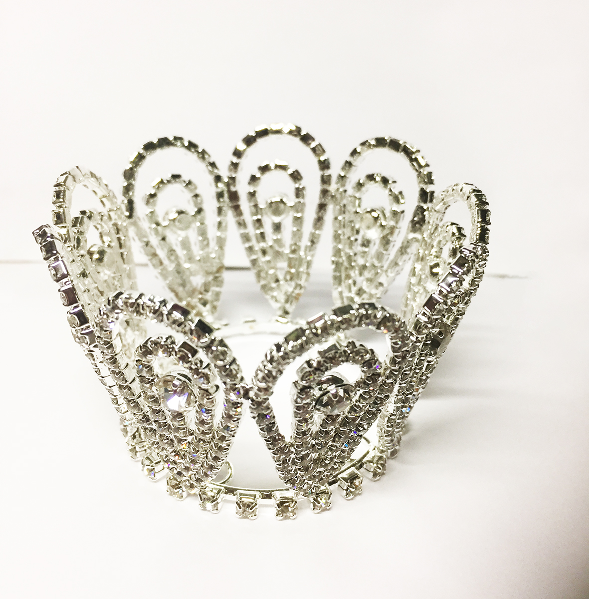 Mini couronne en strass argent