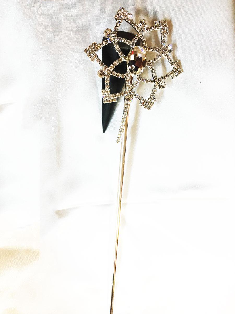 Baguette de fée argent étoile avec strass en cristal