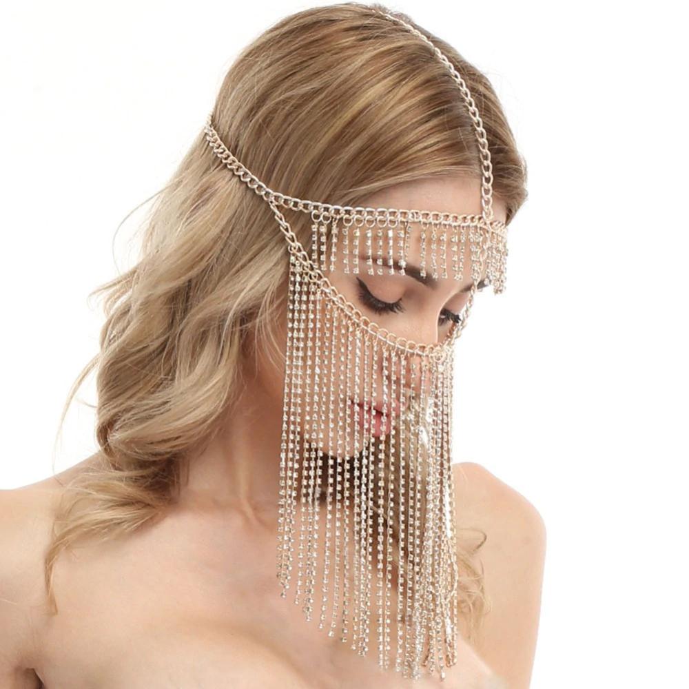 Masque chaines et strass