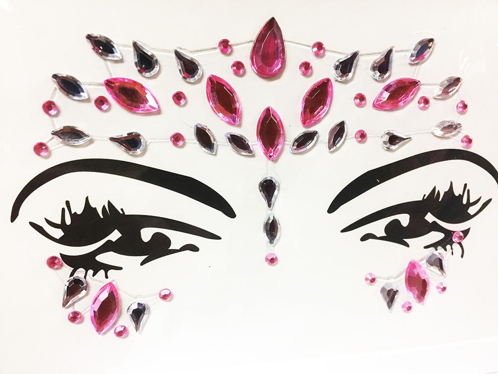 Stickers strass bijou de peau autocollant