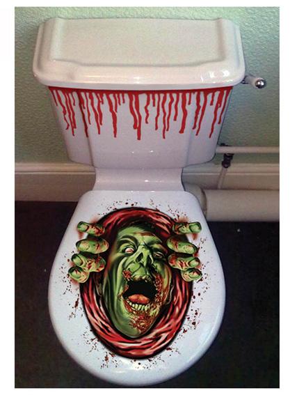 Décor Halloween pour toilettes