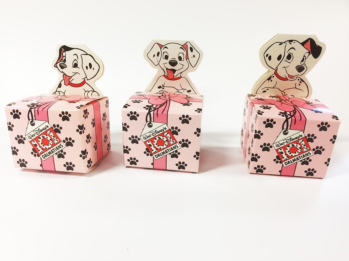 6 boites dragées 101 Dalmatiens roses