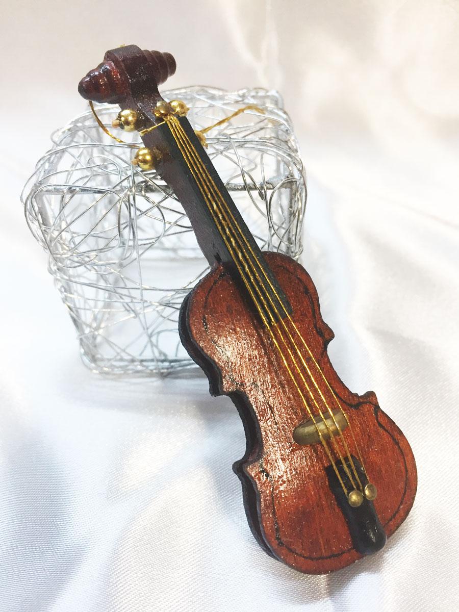 3 mini violons en bois