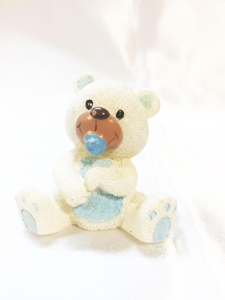 2 Mini figurines en résine ourson blanc