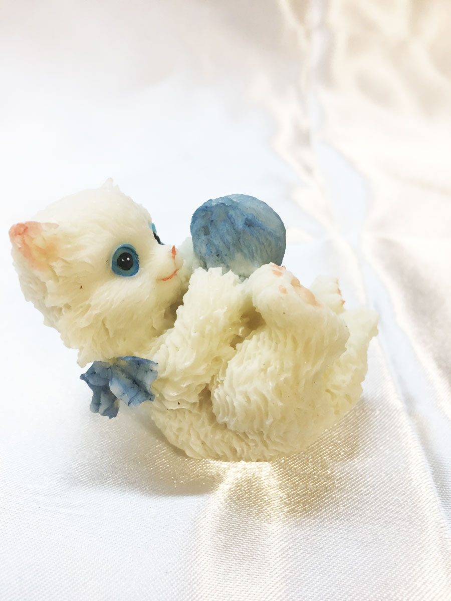 2 Figurines chat en résine