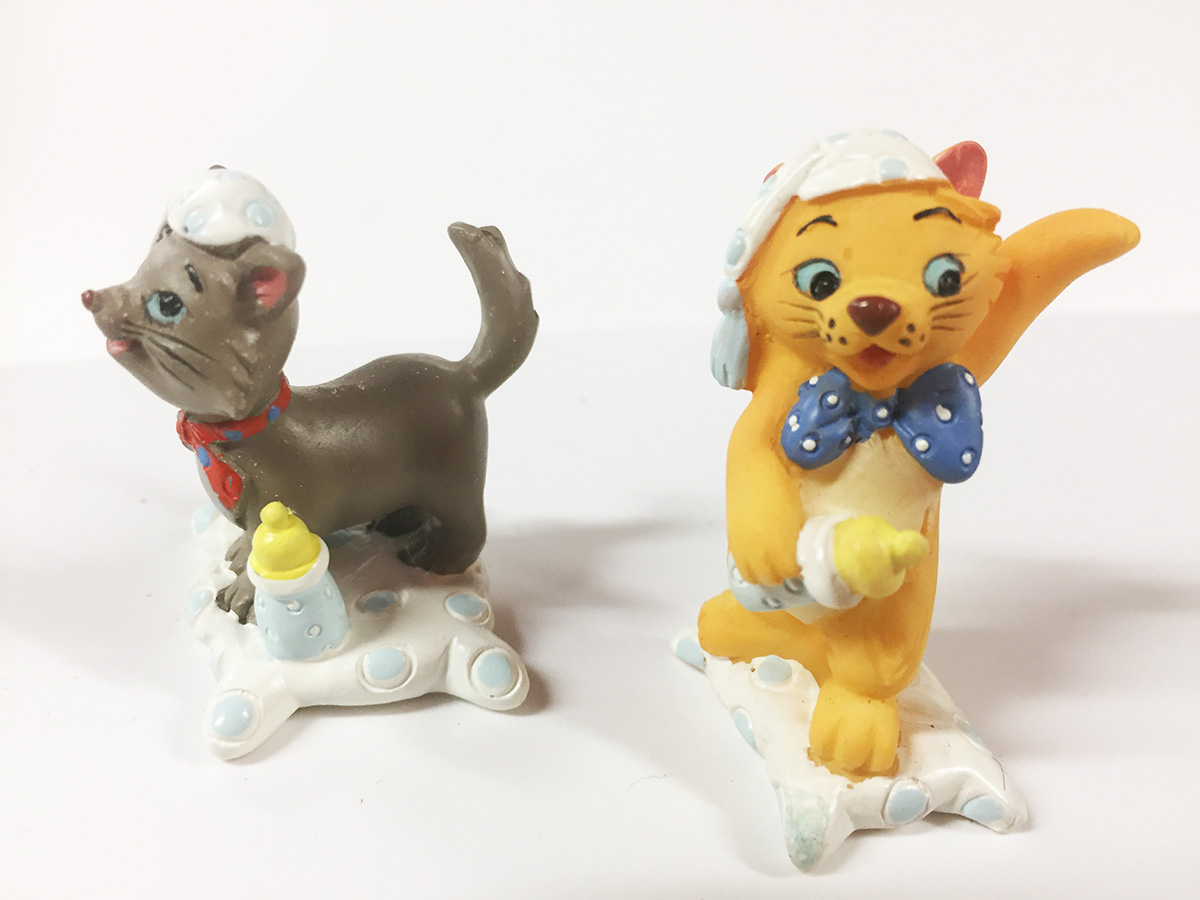 2 mini figurines Disney les aristochats