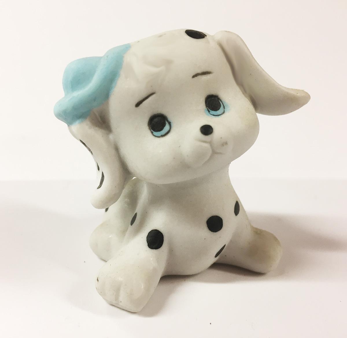 2 Figurines céramique dalmatien garçon