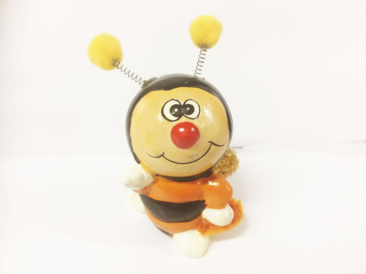 2 figurines céramique abeilles