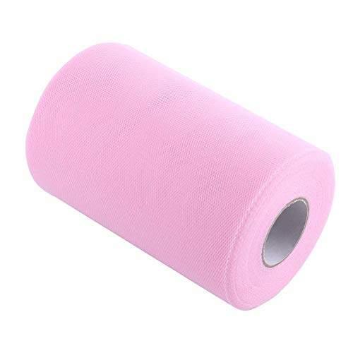 Rouleau de tulle rose