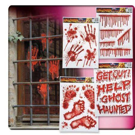 Décor Sanglant Halloween Pour Fenêtre