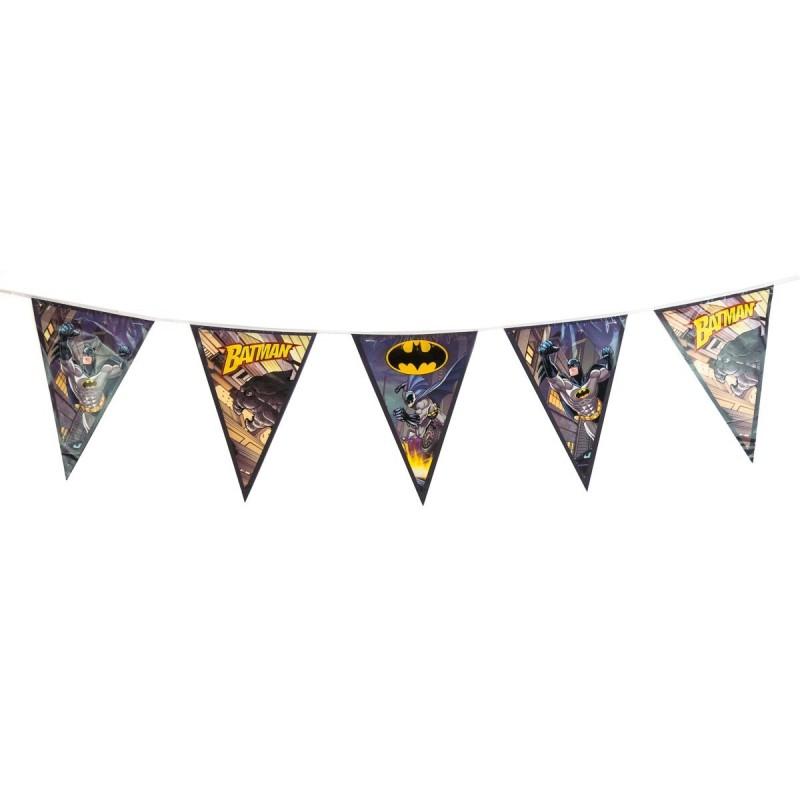 Guirlande fanions en plastique Batman