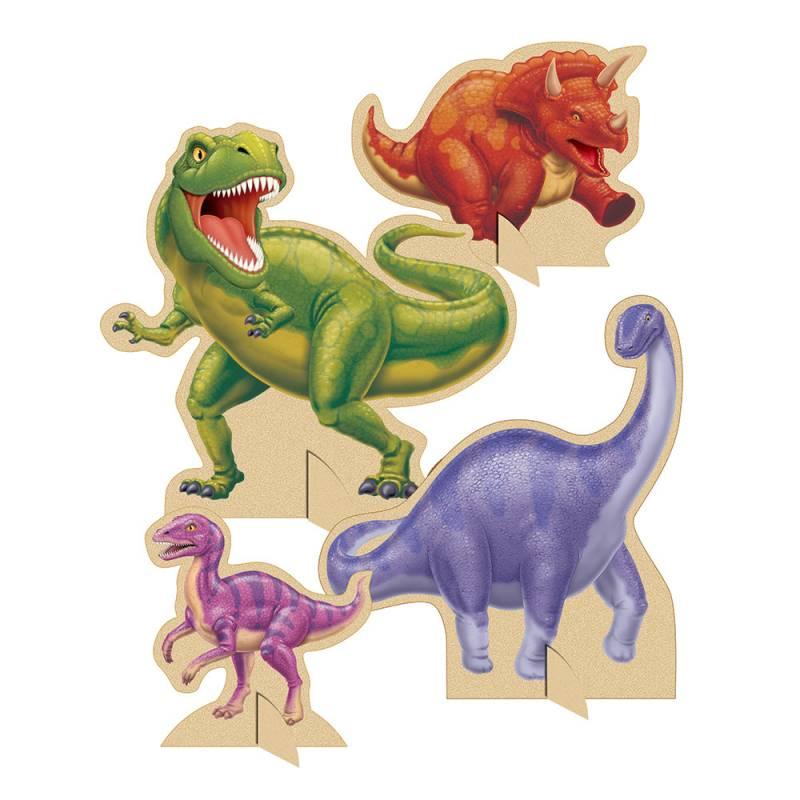 4 Décors de tables dinosaures