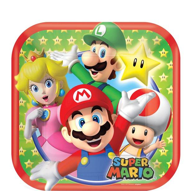 8 petites Assiettes Super Mario