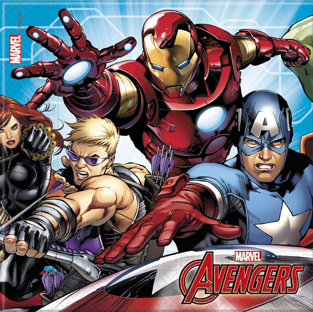 20 Serviettes Avengers