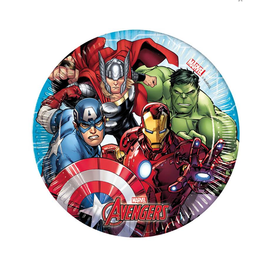 8 Assiettes 20 cm Avengers