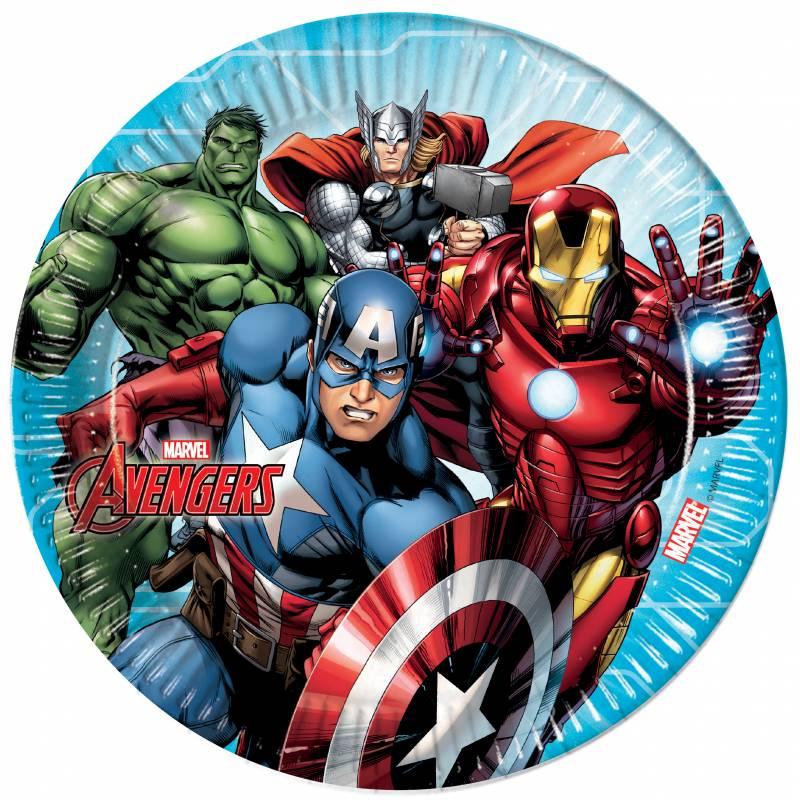 8 Assiettes 23 cm Avengers