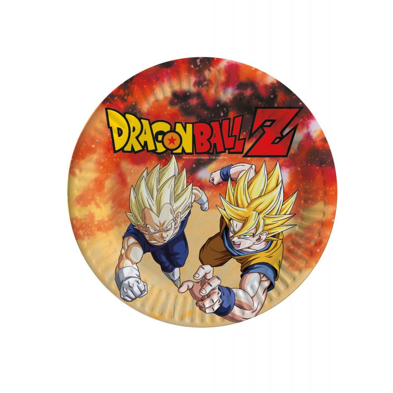 8 Assiettes Dragon Ball Z 23 CM