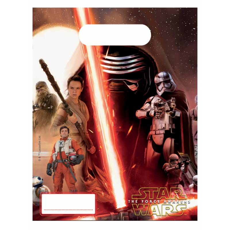 6 sachets cadeaux star wars