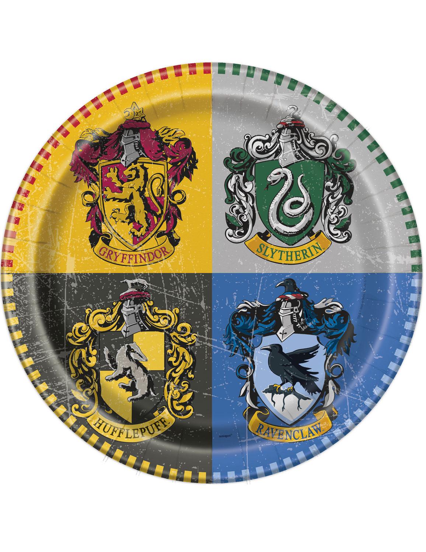 8 assiettes 23 cm Harry Potter