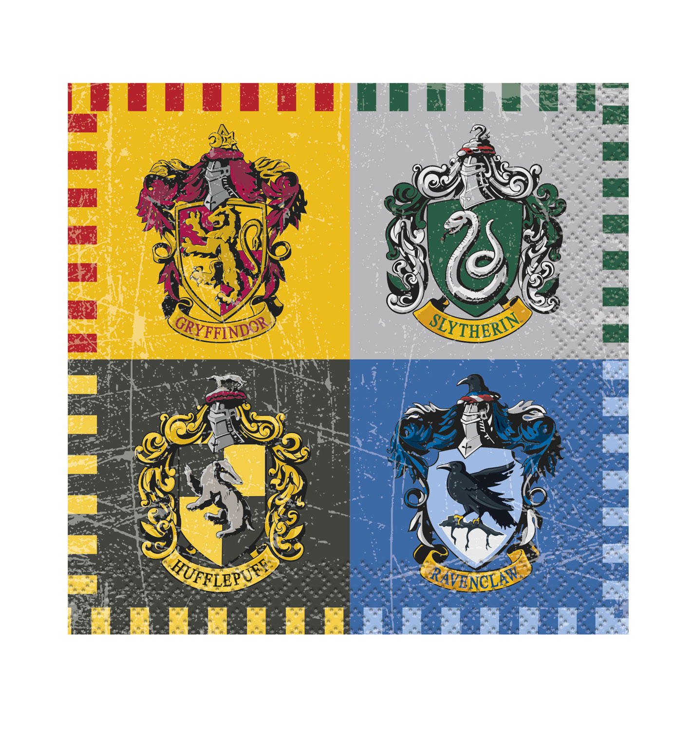 16 petites serviettes Harry Potter
