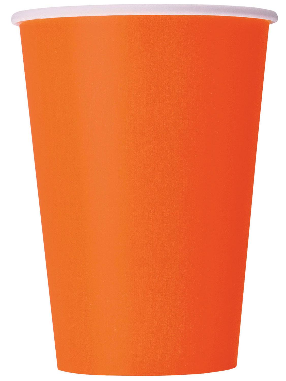 8 Gobelets Jetables Oranges