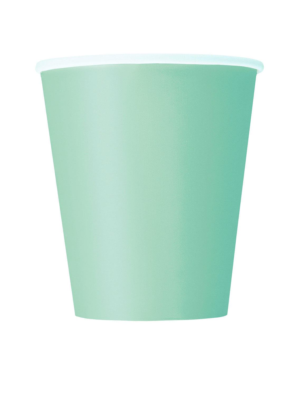 8 gobelets jetables vert menthe
