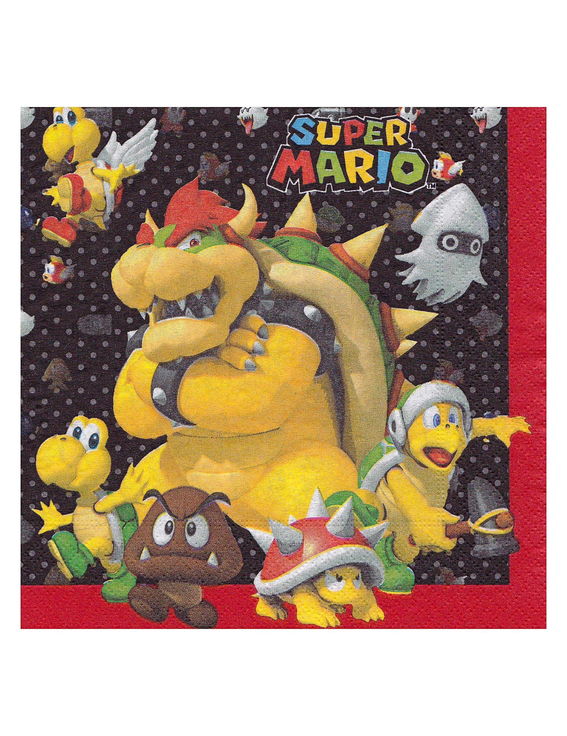 20 Serviettes en papier Super Mario