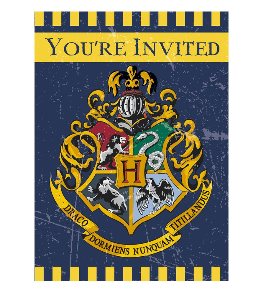 8 cartes invitations Harry Potter