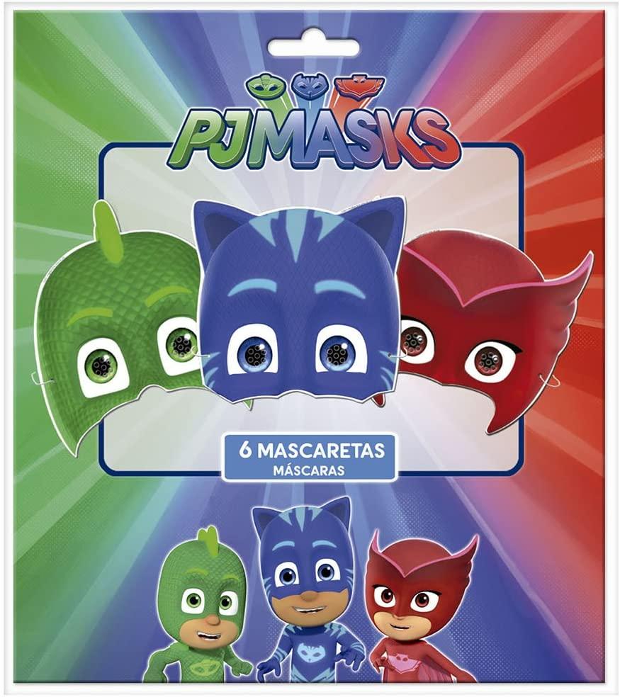 6 masques en carton Pyjamasques