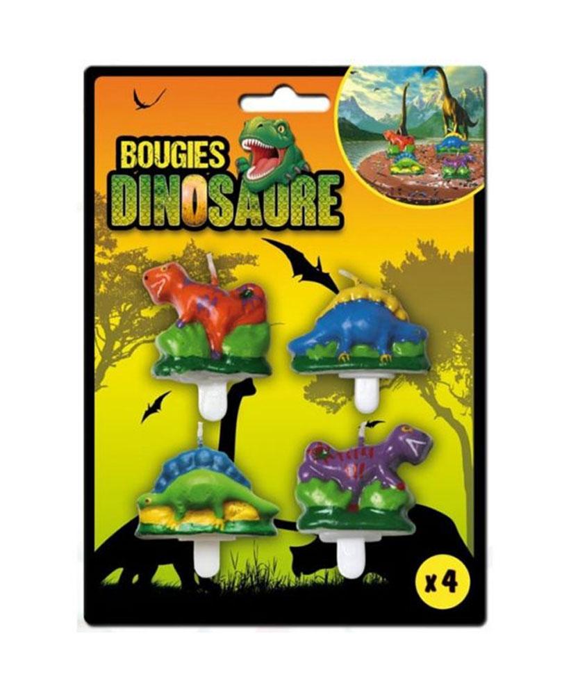 4 bougies dinosaures