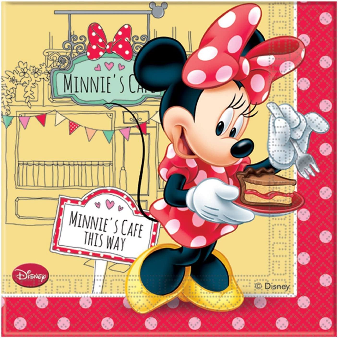 20 serviettes Minnie rouge