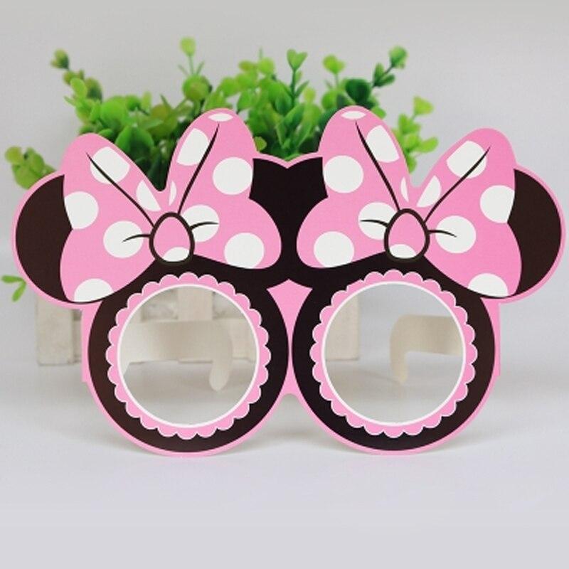 4 lunettes carton Minnie rose