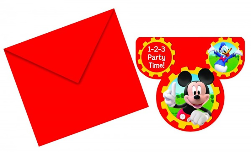 6 invitations Mickey
