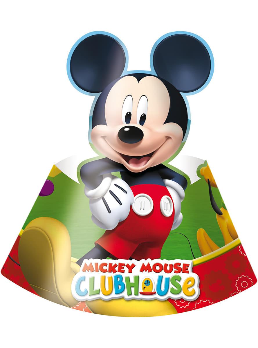 6 chapeaux carton Mickey
