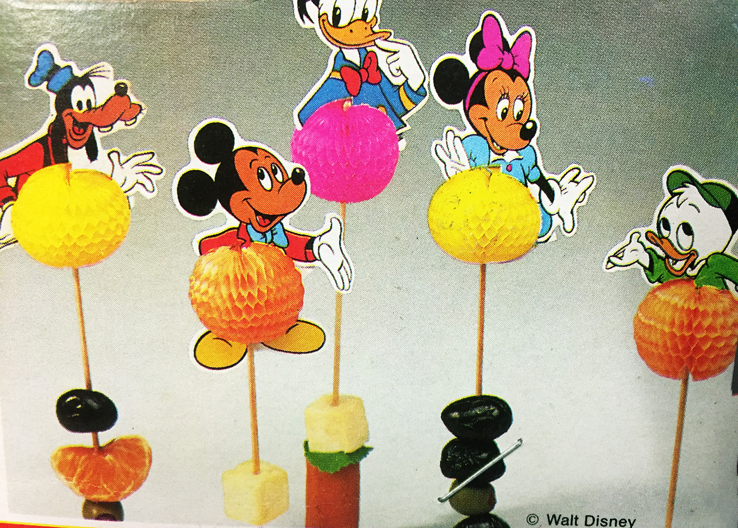 10 piques à cocktail Mickey