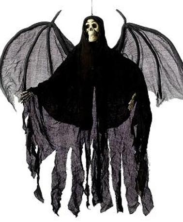 Suspension ange noir 100 cm