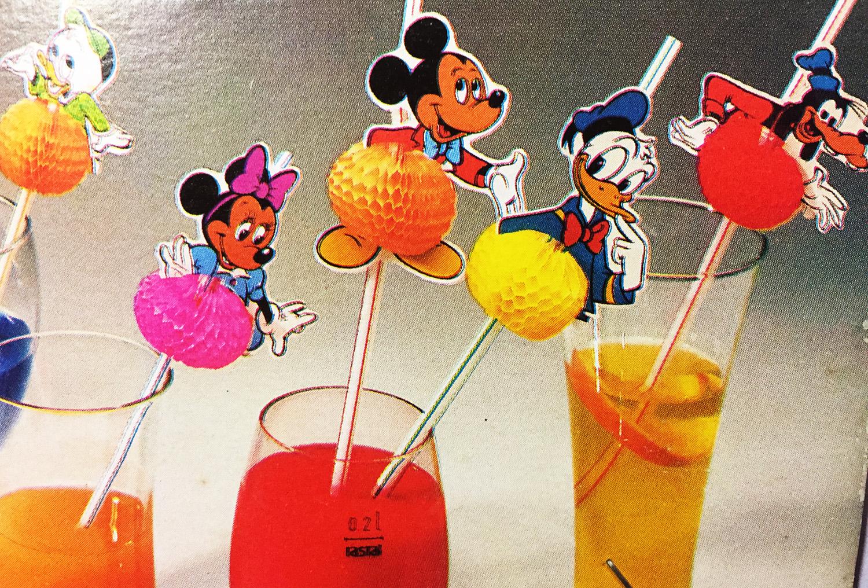 10 pailles Mickey disney