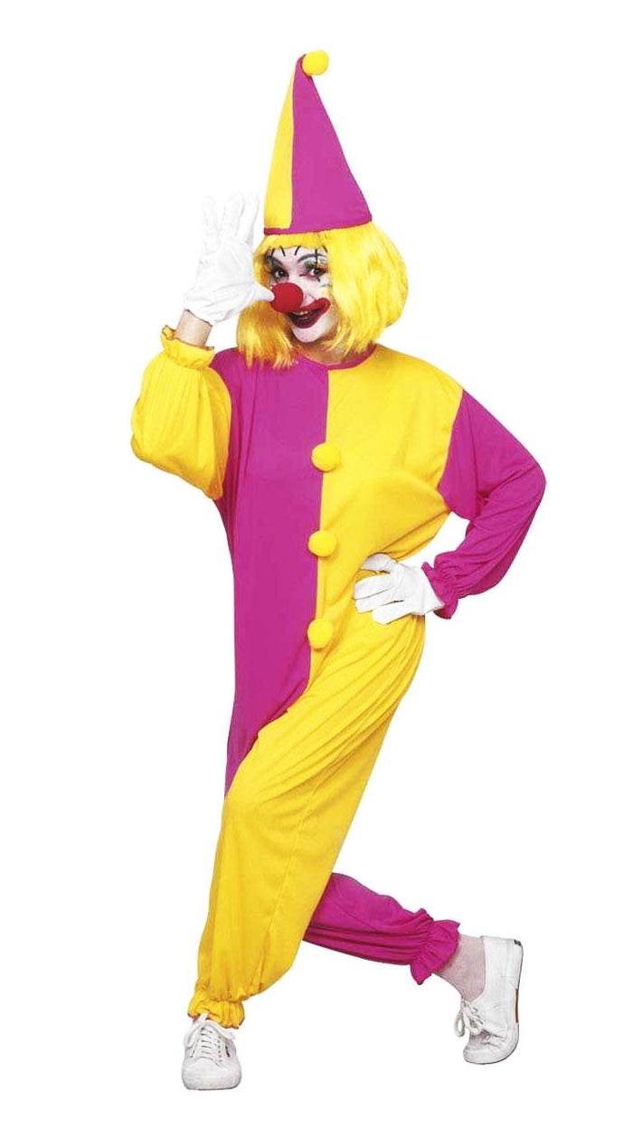 Déguisement clown rose et  jaune