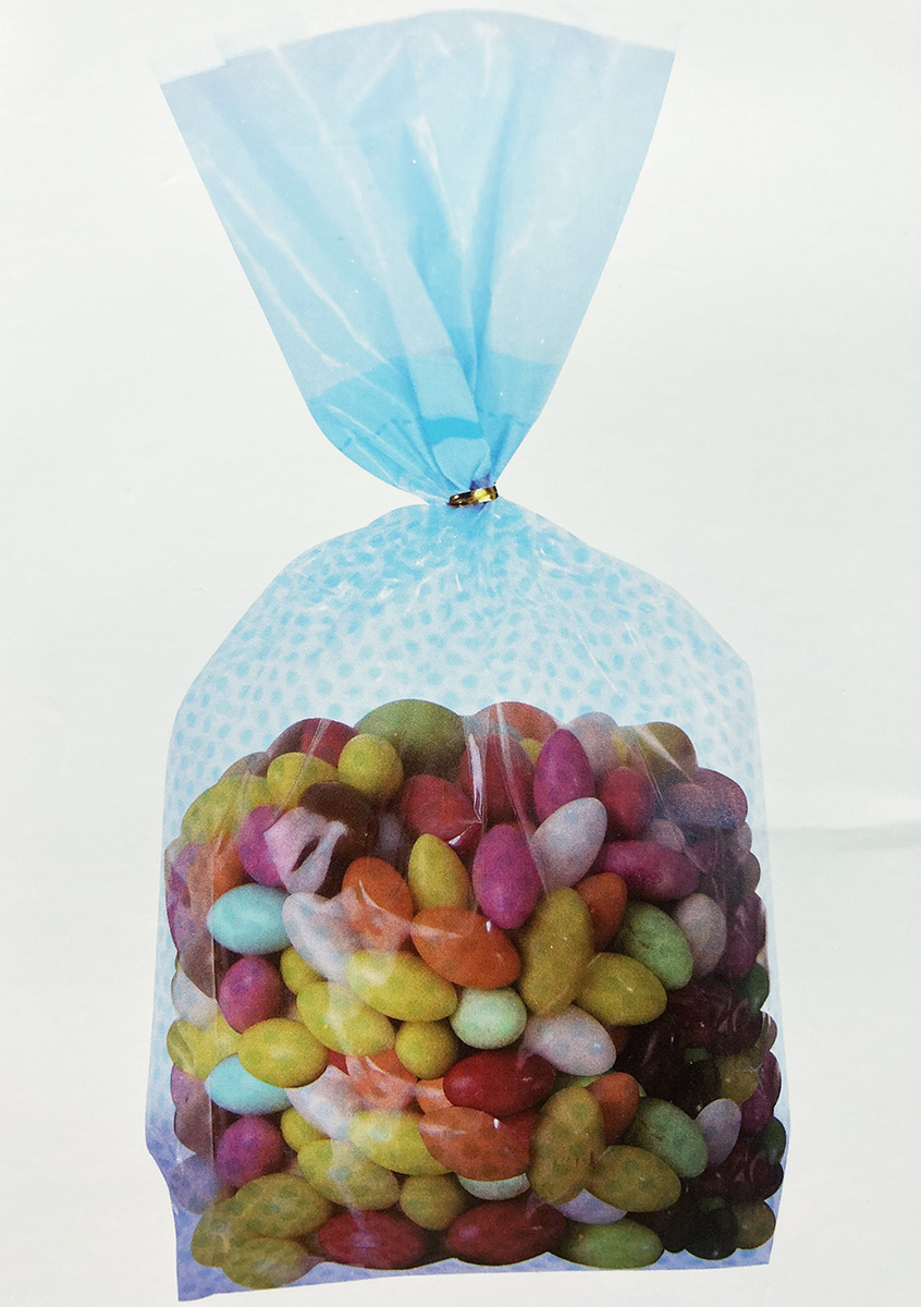 8 sachets bonbons pois bleus