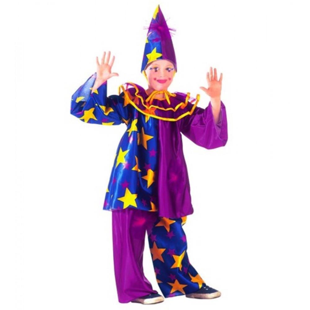 Déguisement clown enfant étoiles