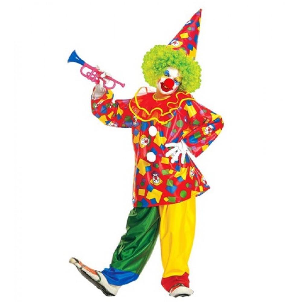 Déguisement de clown rouge enfant