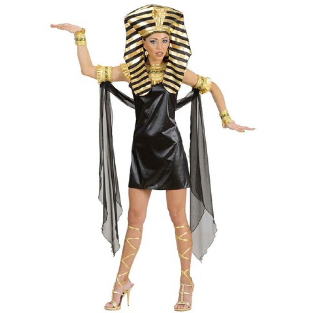 déguisement de Cléôpatre noir et or
