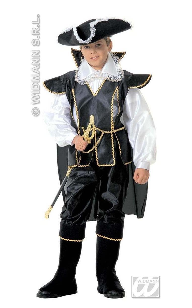 Déguisement pirate corsaire noir enfant