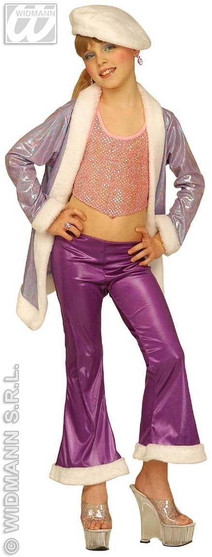 Déguisement funky girl disco lilas