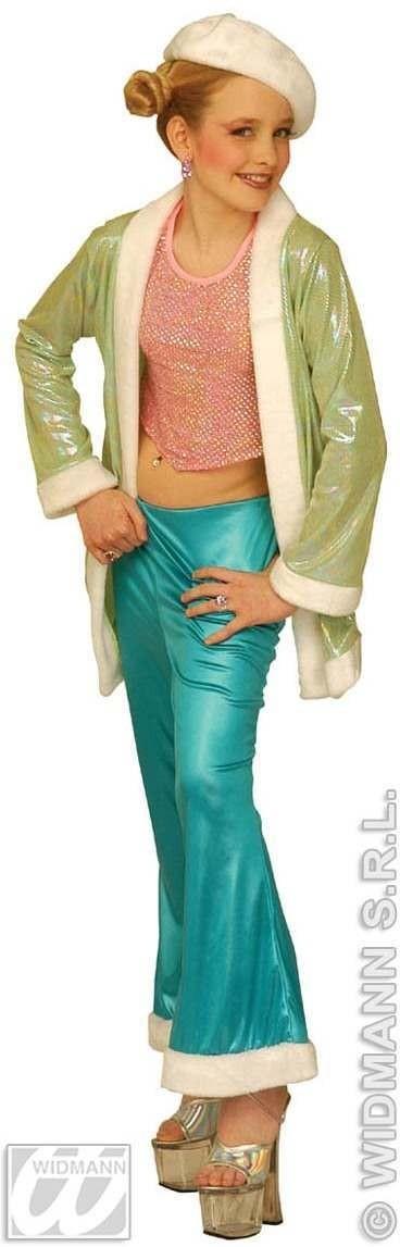 Déguisement funky girl disco vert