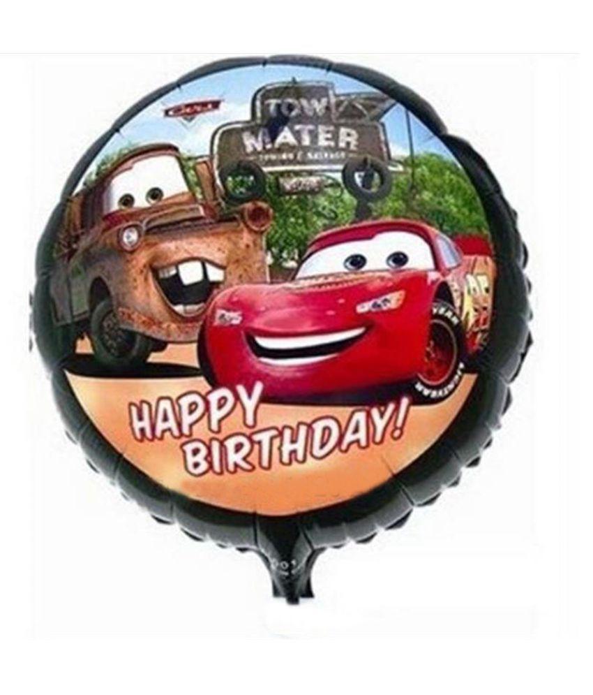 Ballon mylar happy birthday cars