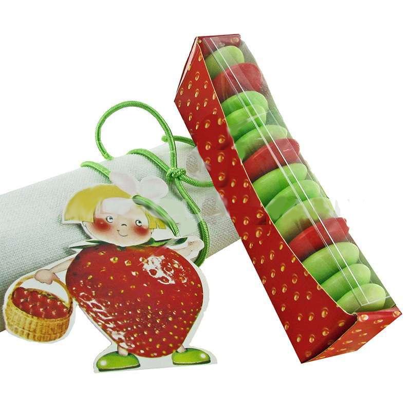 5 Ballotins avec marque place thème fraise