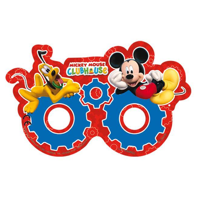 6 masques en carton Mickey