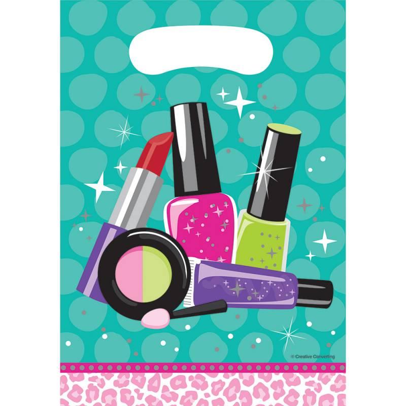 8 sachets de fêtes thème beauty party et maquillage